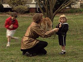 Leslie and children