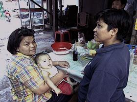 slum family