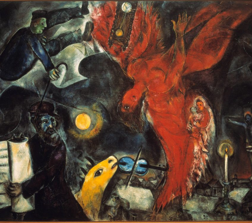 Marc Chagall, The Fall of the Angel, 1932-33-47, oil on canvas