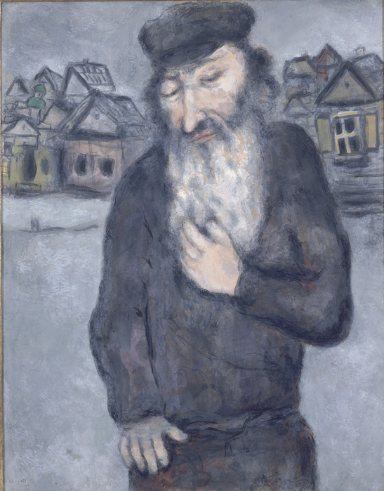 Marc Chagall, Untitled (Old Man with Beard), c. 1931, gouache and watercolor over charcoal or graphite on paper