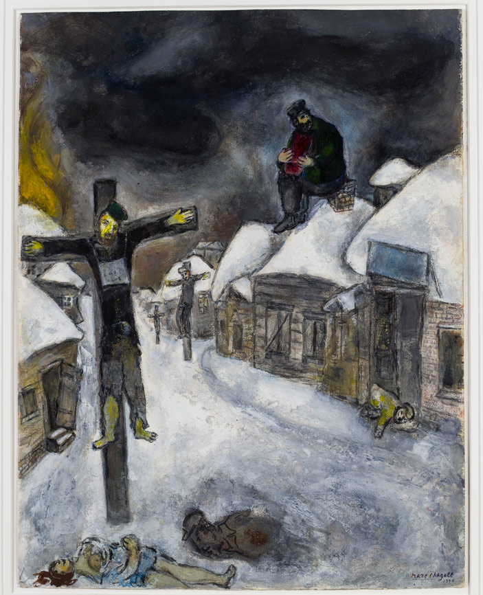 Marc Chagall, The Crucified, 1944, pencil, gouache, and watercolor on paper
