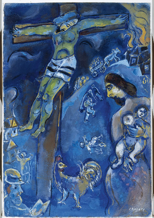 Marc Chagall, Persecution, c. 1941, pastel, gouache and watercolor on paper