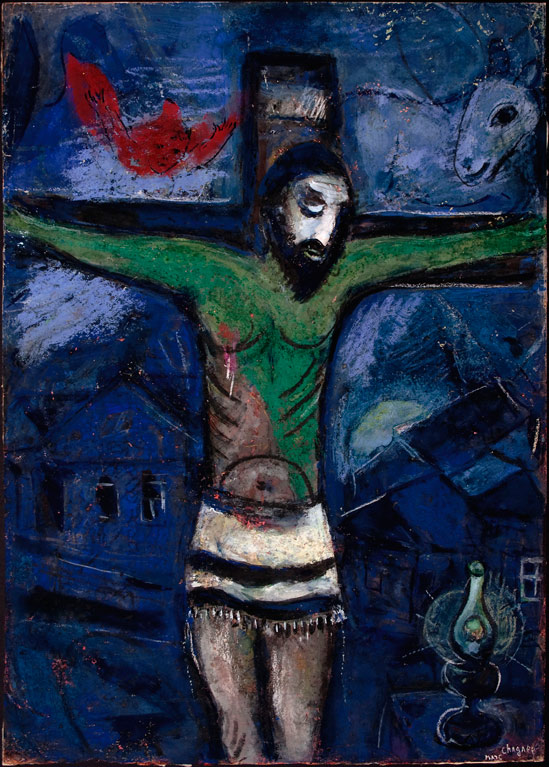 Marc Chagall, Christ in the Night, 1948, pencil, gouache, and pastel on paper