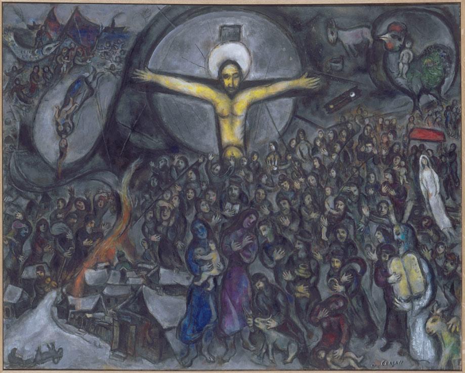 Marc Chagall, Exodus, 1952-1966, oil on canvas