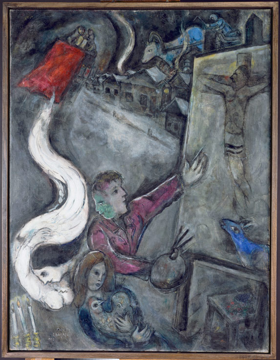 Marc Chagall, The Soul of the City, 1945, oil on canvas