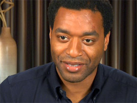 "Chiwetel Ejiofor plays Solomon Northup in ""12 Years a Slave"""