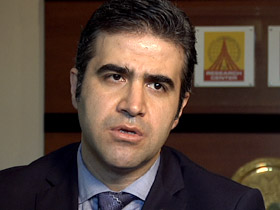 Fatih Ceran of the independent Journalists and Writers Foundation in Istanbul