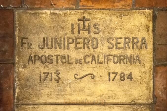 Gravestone of Junipero Serra at Carmel Mission in California